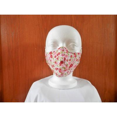 Masque Fleur Rose- Rouge