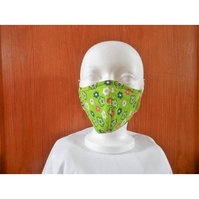 Masque Fleur Fond Lime