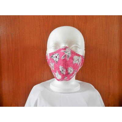 Masque Chat Fond Rose