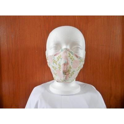 Masque Fleur Rose Fond Naturel