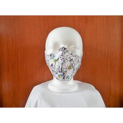 Masque Chat Dessiné Noir
