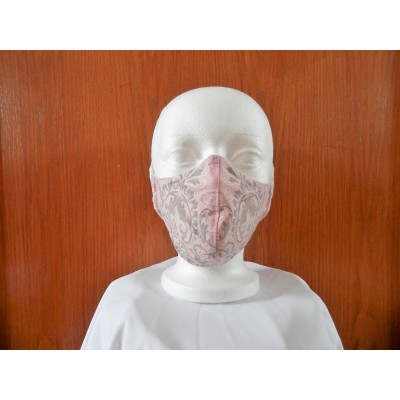 Masque Rose Gris Foulard
