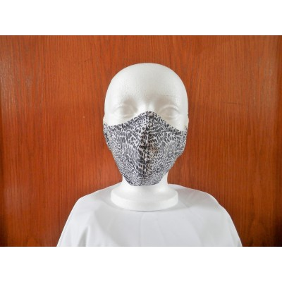 Masque Tacheté Noir-Blanc